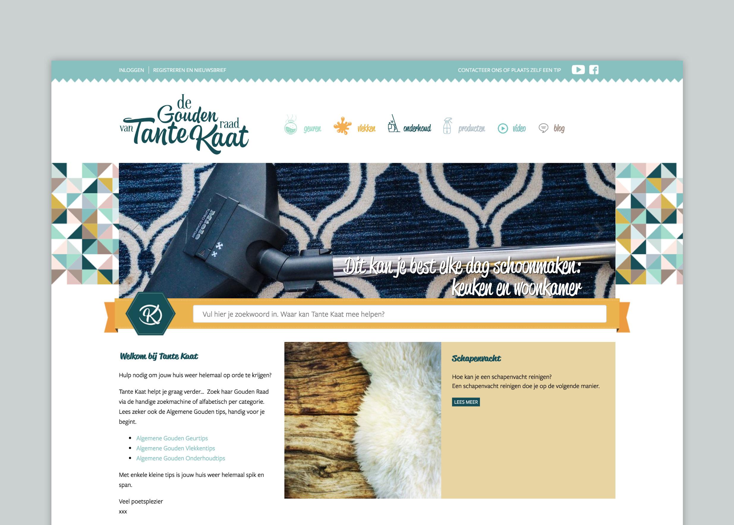Webdesign voor Tante Kaat door Wizarts