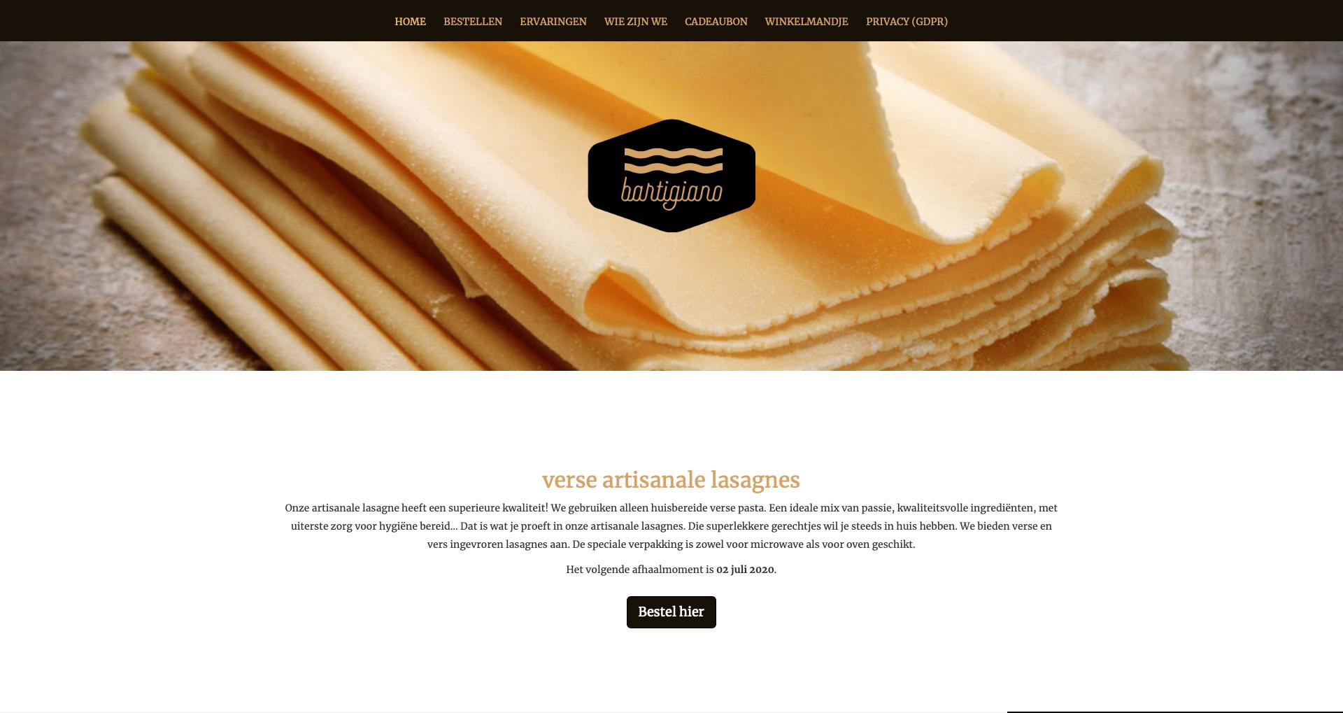 Bartigiano - ecommerce - Wizarts